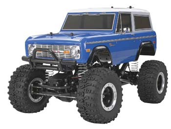 This is a 1/10 scale R/C assembly kit model of the Ford Bronco 1973.